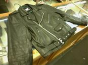 FMC TECHNOLOGIES Coat/Jacket BLACK LEATHER JACKET, SIZE 44